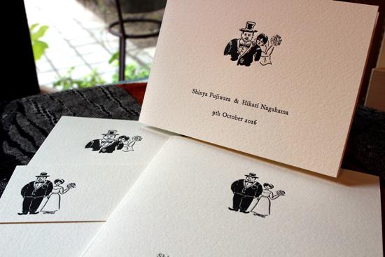 二種類のモチーフ&四種類のサイズ違いカード