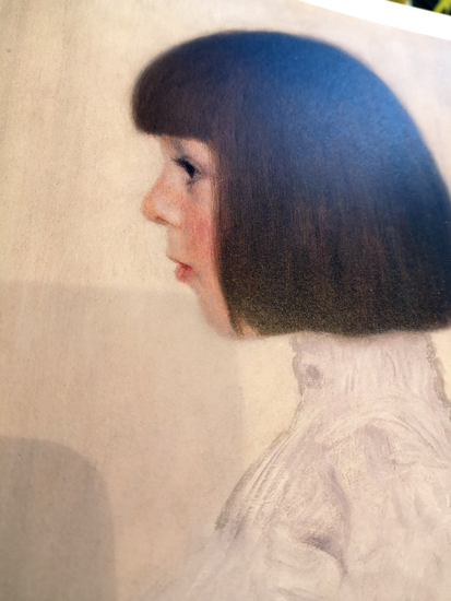 クリムトの弟の娘の肖像画
