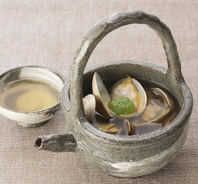 すっぽん純生スープで作るあさりスープ