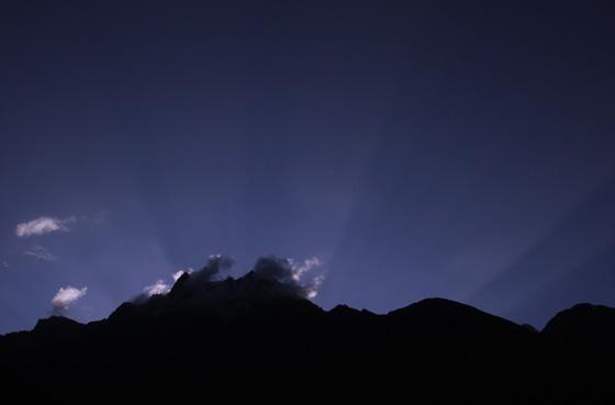 Sun Rise from Mountain