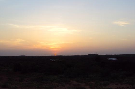 Sunset in Turmi