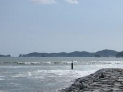 松島より北の「野蒜(のびる)」へ。風くらってましたがセットで頭程度