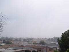 12時過ぎても霧が・・・本当は、正面にパワープラントが見えるはずなのに・・・