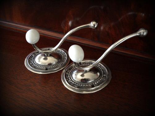 アンティークフック|フランス|クロム&陶器