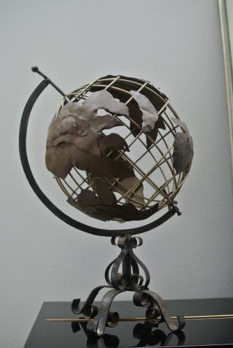 イギリスアンティーク地球儀/アイアン/globe