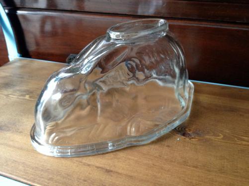 イギリスアンティーク ガラスのゼリーモールド/うさぎ