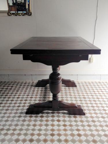イギリスアンティーク家具 ドローリーフテーブル/伸長式