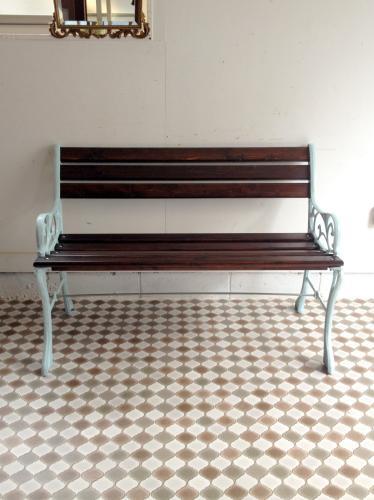 イギリスアンティーク家具 ガーデンベンチ/アイアン