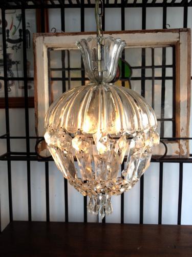 イギリスヴィンテージ  1灯シャンデリア H2