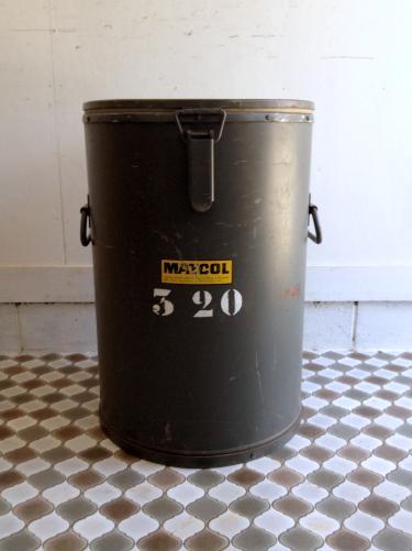 フランスアンティーク フランス軍の弁当保温缶