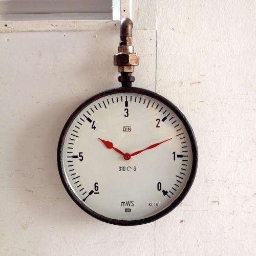 アンティーク 壁掛け時計/クロック/熱量計/フランス J16