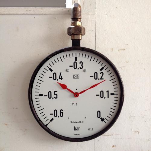 アンティーク 壁掛け時計/クロック/圧力計/フランス J17