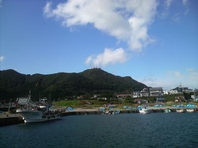 津軽海峡側からの函館山