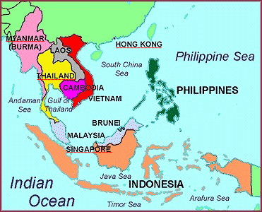 MAP OF SOUTH EAST ASIA | South Asia & South East Asia by Photographs