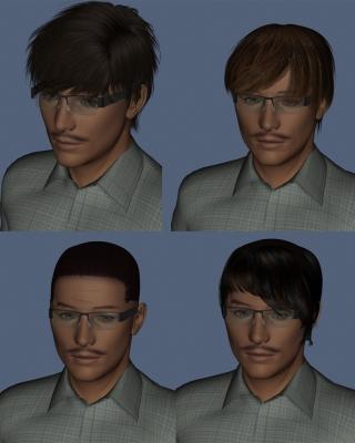 髪型の違いによるイメージ比較