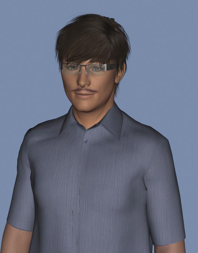 眼鏡おじさん3Dモデル