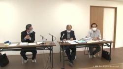 政務活動費の時効10年の会見(KNB)