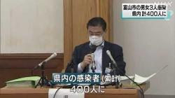 9月3日県内感染者延べ400人に(NHK)