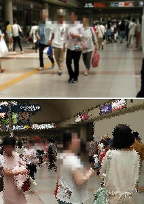 川崎駅の雑踏