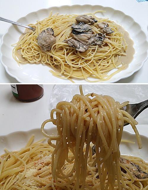 牡蠣のクリームスパゲッティ