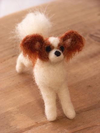 フェルト犬 パピヨン