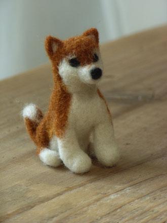 羊毛フェルト柴犬