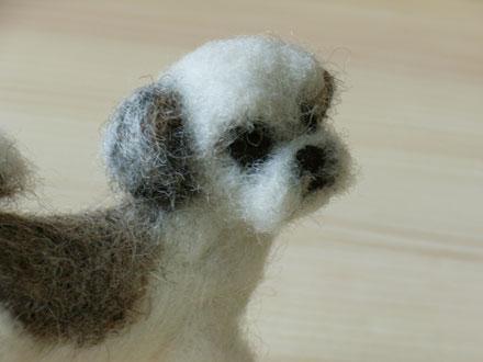 羊毛フェルトシーズーコナちゃん