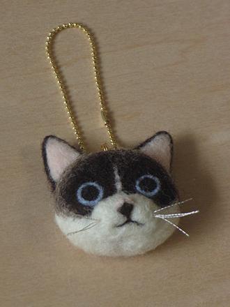 はねつきりんごフェルトMIX猫ランディフェイス