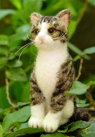 はねつきりんごフェルトオーダーにゃんこトラ猫