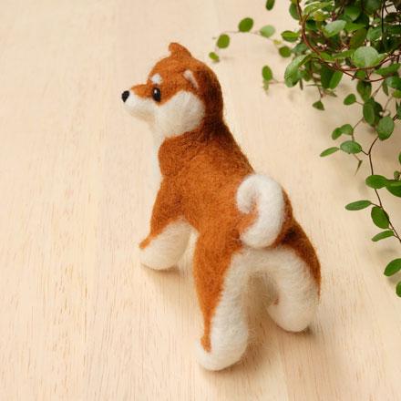 はねつきりんご奈良登美ヶ丘産経学園羊毛フェルト講座はねつきりんご柴犬