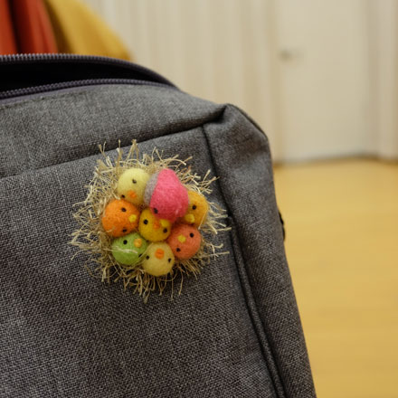 奈良登美ヶ丘産経学園羊毛フェルト講座はねつきりんご