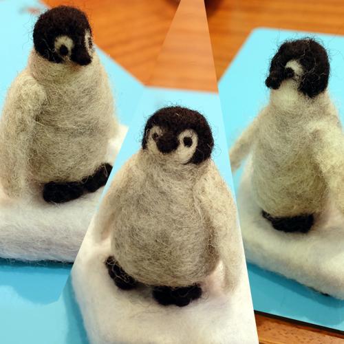 はねつきりんご産経学園羊毛フェルト講座ペンギン
