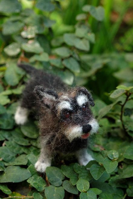 はねつきりんご羊毛フェルトオーダーわんこMIX犬