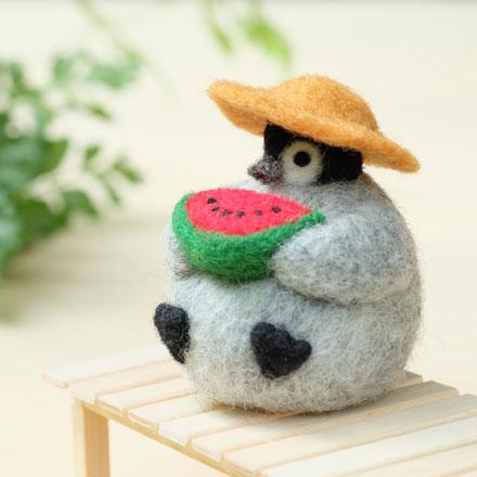 はねつきりんご羊毛フェルトABCクラフト講習会ペンギンくんの夏休み