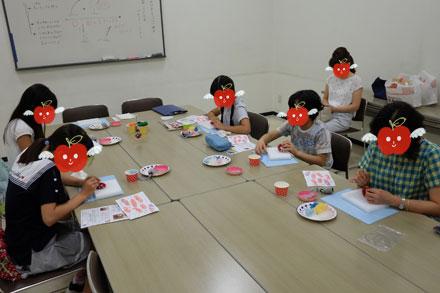 はねつきりんご奈良登美ヶ丘産経学園夏休み1DAYレッスン風景