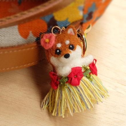 はねつきりんご奈良登美ヶ丘産経学園羊毛フェルト講座フラダンス柴犬キーチャーム