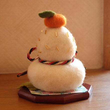 奈良登美ヶ丘産経学園羊毛フェルト講座はねつきりんごはりねずみ鏡もち