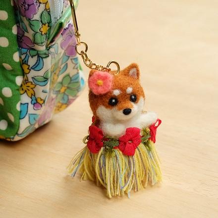 はねつきりんご講習会フラダンス柴犬チャーム
