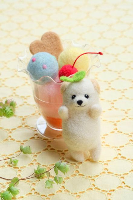 はねつきりんご奈良登美ヶ丘産経学園羊毛フェルト講座子犬パフェ