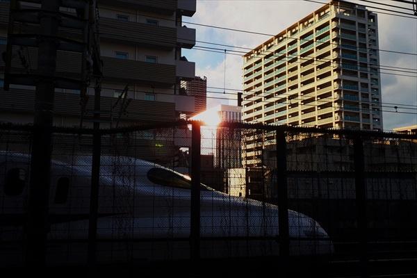 武蔵小杉駅からの夕陽