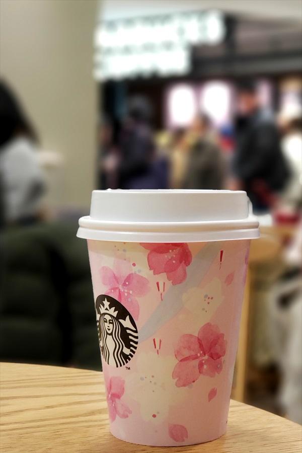 スタバ、桜のカップ