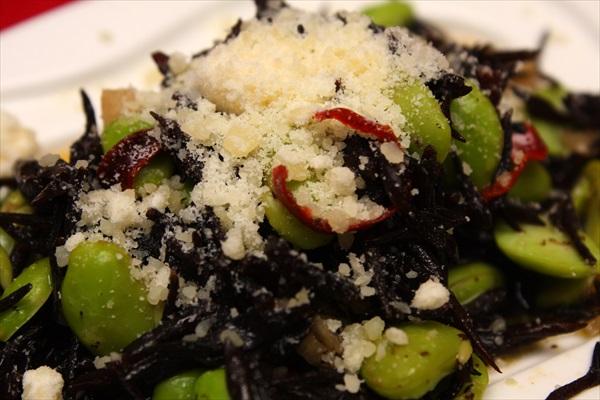 ひじきと枝豆のペペロンチーノ