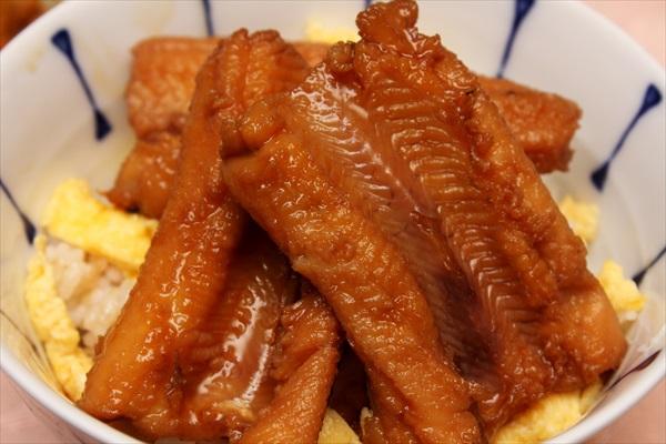 煮穴子丼とカキフライ