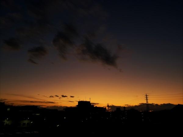 夕陽てくてく