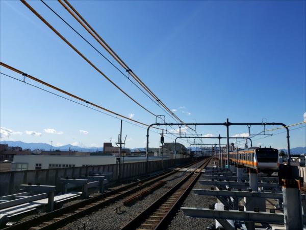 駅から富士山