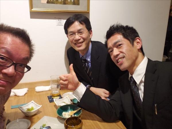 ムラマツ、伊藤、丹下、飲み