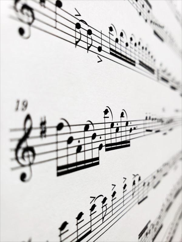 品川風景、夜景、楽譜