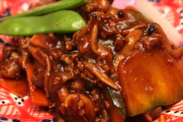 八丁味噌で野菜炒め