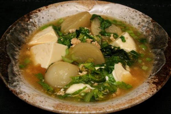蕪とお豆腐のとろとろ煮