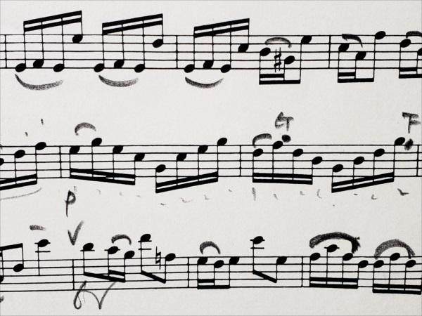 バッハ:パルティータ楽譜